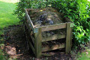 compost dans le jardin